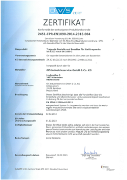 Zertifikat DVS